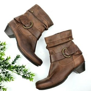 PIKOLINOS Brujas Buckle Brown Leather Boots S26